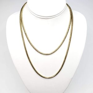 Vintage Gold Tone Long Length Thick Chain Necklace